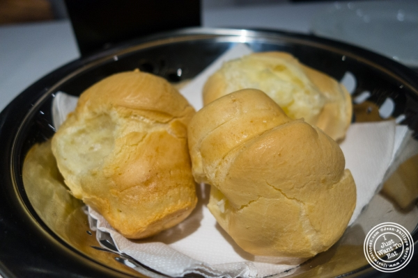 Portuguese cheese bread at Fogo De Chao in Sao Paulo, Brazil