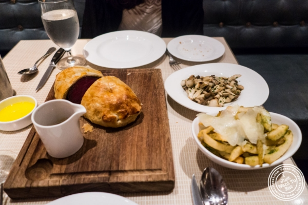 Beef Wellington at   Maze by Gordon Ramsay in New York, NY