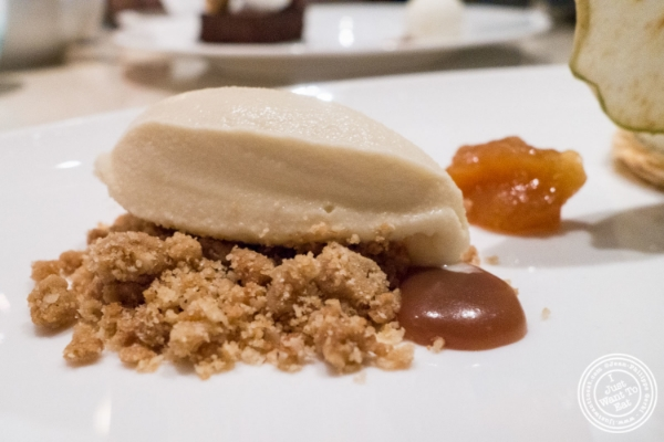 Apple dessert at   Maze by Gordon Ramsay in New York, NY