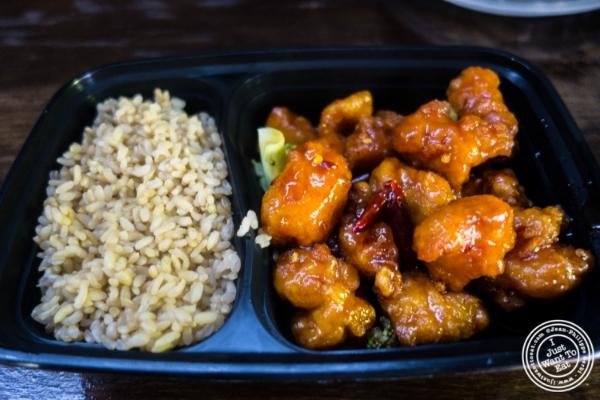 General Tso chicken atLo Fatt Chow, Healthy Chinese Cuisine, in Hoboken, NJ