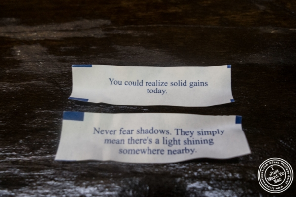 Fortunes at Lo Fatt Chow, Healthy Chinese Cuisine, in Hoboken, NJ