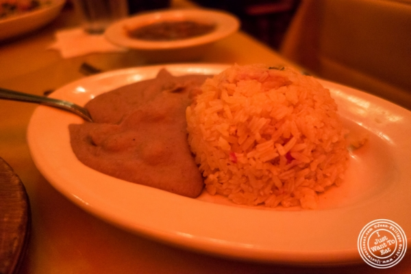 Rice and refried beans at Baja, Tex-Mex in Hoboken, NJ