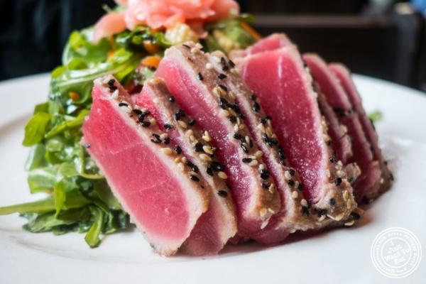 Ahi tuna salad atHudson Tavern in Hoboken, NJ