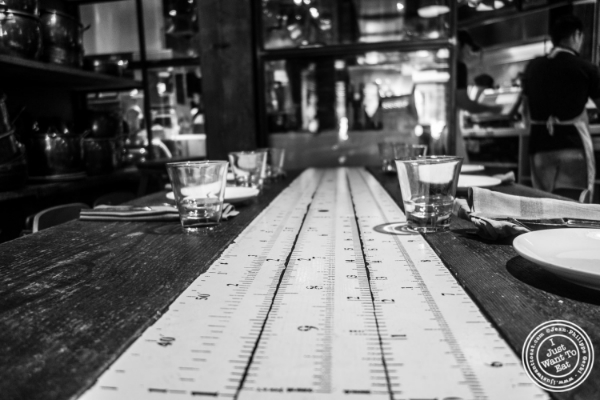Table at Giovanni Rana in Chelsea Market, NYC, New York
