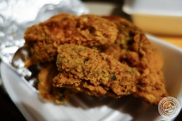 Fried chicken fromCluck-U Chicken in Hoboken, NJ