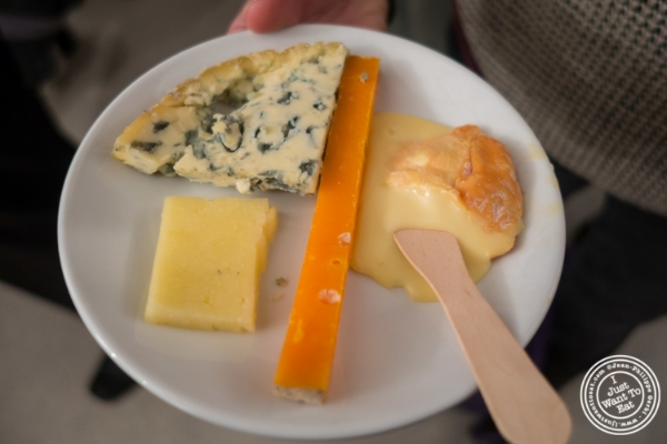 Cheese plate at The French Cheese Board
