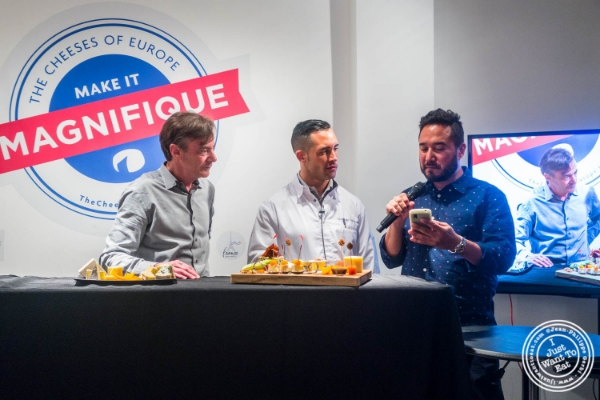 Max Mc  Calma, Chef Valentin Néraudeau and Charles Duque   at The French Cheese Board