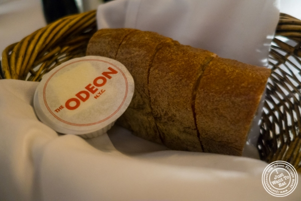 Bread and butter at   The Odeon in TriBeCa, New York, NY