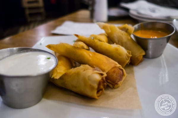 Buffalo chicken Spring rolls at Heartland Brewery in New York, NY