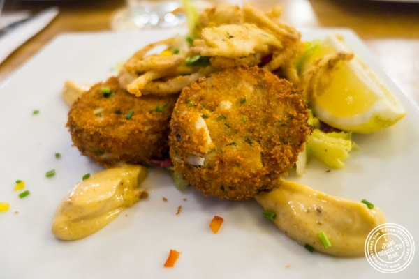 Crab cakes at Heartland Brewery in New York, NY