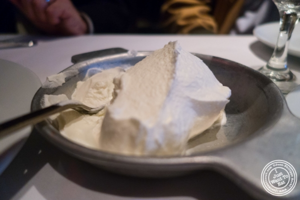 Whipped cream   at Mastro's Steakhouse in New York, NY