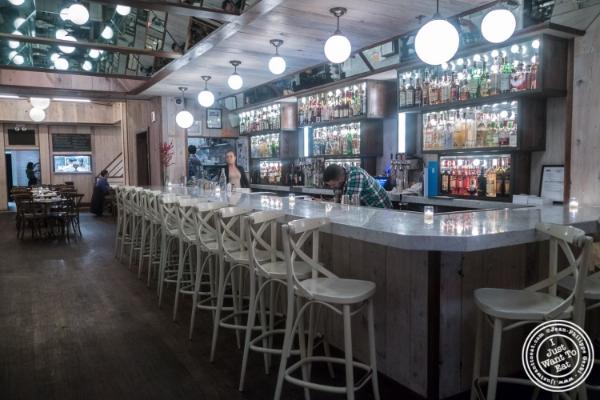 Bar area atTelepan Local in TriBeCa, New York, NY