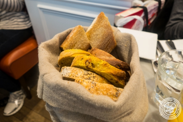 Bread basket at Maison Kayser in New York, NY