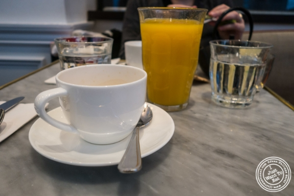 Espresso and orange juice at Maison Kayser in New York, NY