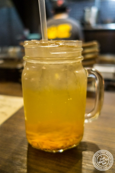 Quince tea at Mokbar, Korean ramen in Chelsea Market