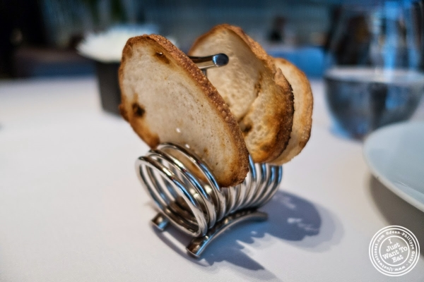 toasted bread at Le Bernardin in New York, NY