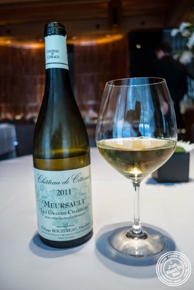 "Meursault ""Les grands charrons"", a Bourgogne from 2011 at Le Bernardin in New York, NY"