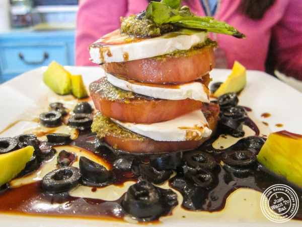 Caprese salad   at La bouche cafe in Hoboken, New Jersey