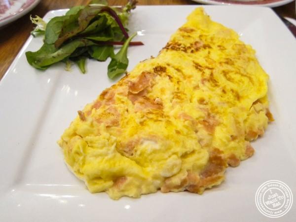 Smoked salmon omeletat La bouche cafe in Hoboken, New Jersey