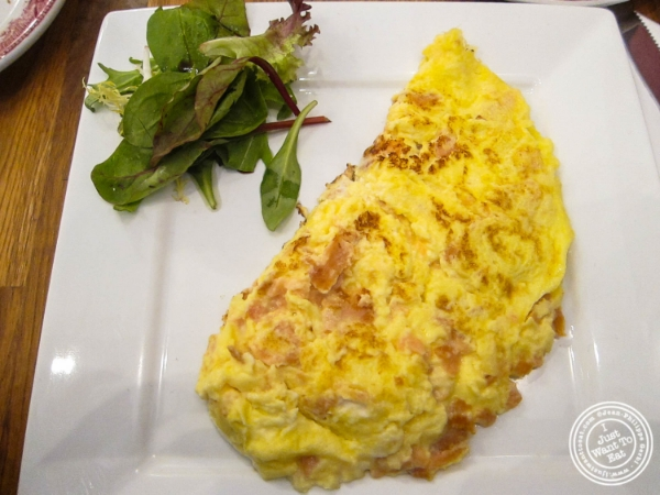 Smoked salmon omelet   at La bouche cafe in Hoboken, New Jersey
