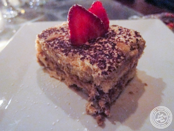 Tiramisu at Bistro 1051 in Clark, NJ