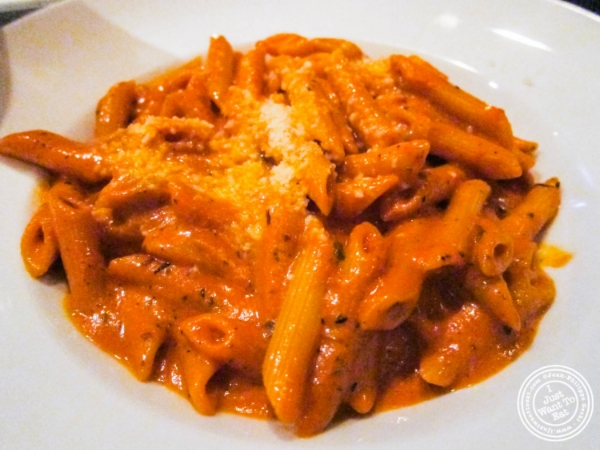 Penne vodka at Bistro 1051 in Clark, NJ
