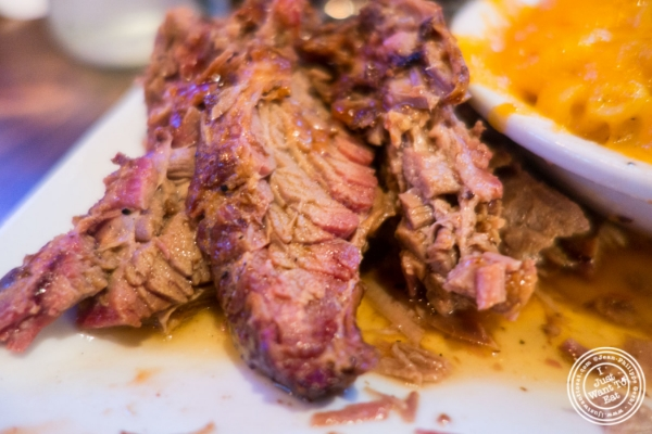 Brisket at The Smokin' Barrel in Hoboken, NJ