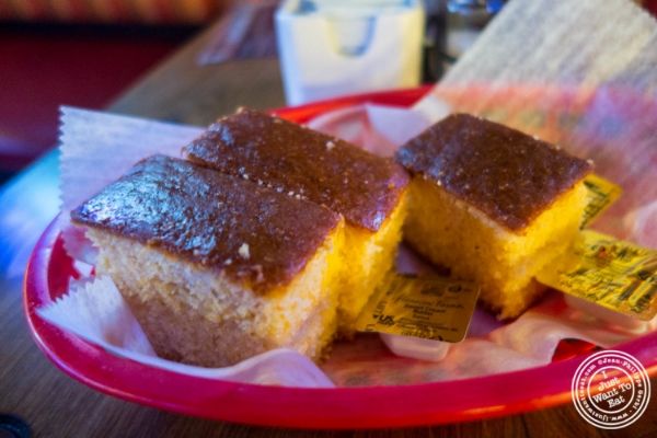 Corn bread at The Smokin' Barrel in Hoboken, NJ