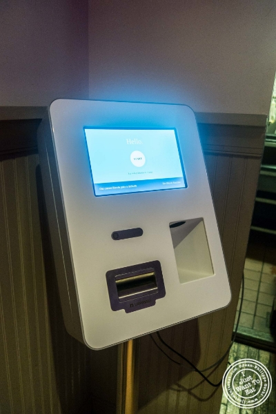 Bitcoin machine at at Le Village in New York, NY