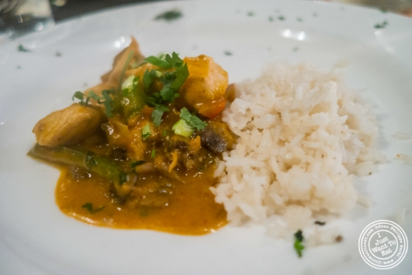 Thai curry chicken at Flight in New York, NY