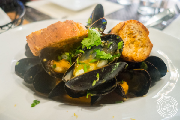 Thai style PEI mussels at Flight in New York, NY