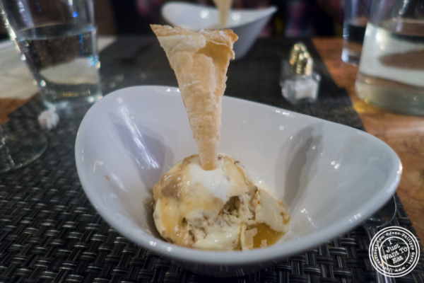 Brown bread ice cream at Flight in New York, NY