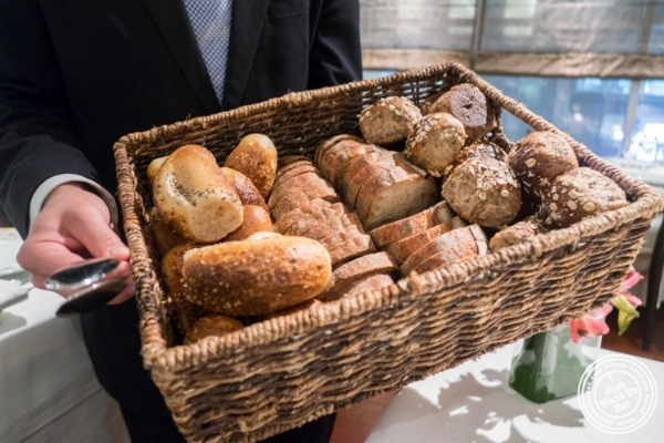 Bread basket at Ai Fiori in New York, NY