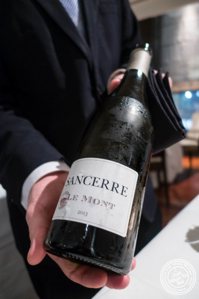 Sancerre wine at Ai Fiori in New York, NY