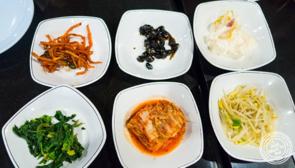Banchan at Seoul Garden in New York, NY