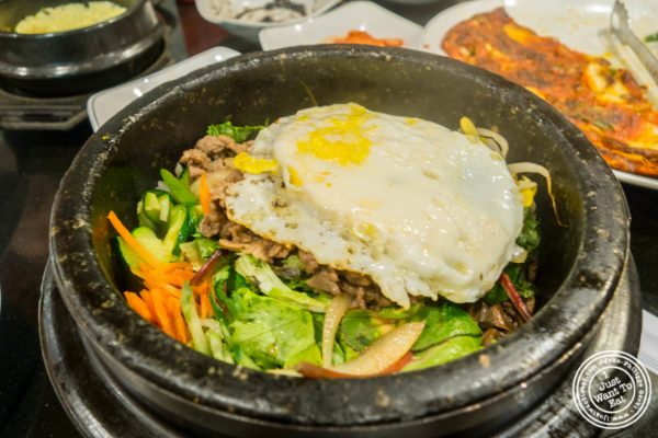 Ribeye bibimbap at Seoul Garden in New York, NY