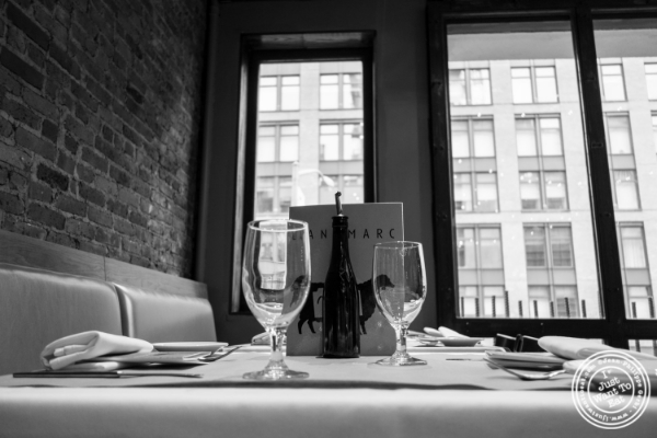 Dining room at Landmarc in Tribeca, New York, NY
