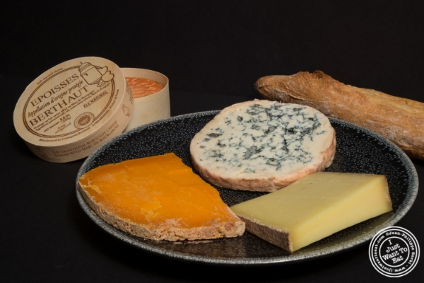 Cheese platter: Epoisse, Mimolette, Fourme D'Ambert and Comté