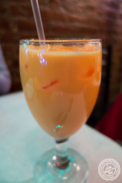 Mango lassi at Aaheli in Hell's Kitchen, New York, NY