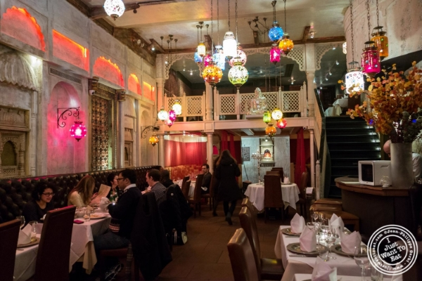 Dining room at Devi, Indian restaurant in NYC, New York