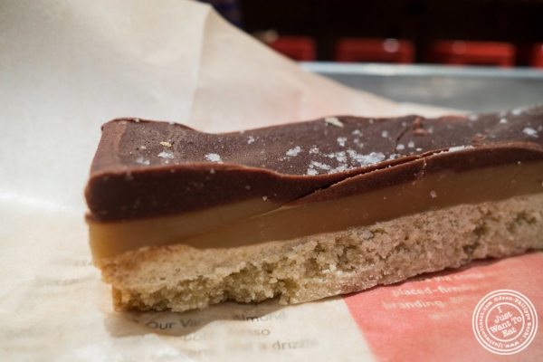 Salted caramel bar or twix at Baked, Bakery in TriBeca, New York, NY