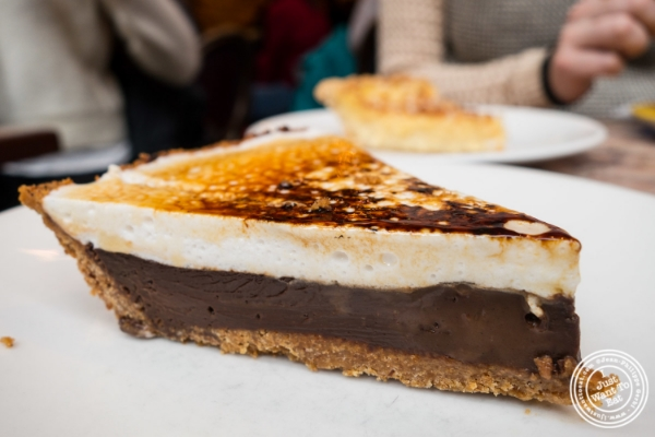 S'mores pie at   Café Lalo on the Upper West Side, New York, NY