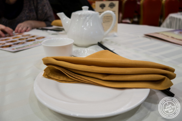 Tea at Jing Fong, Dim Sum Restaurant in Chinatown, New York, NY