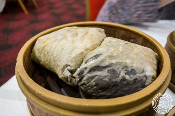 Sticky rice at Jing Fong, Dim Sum Restaurant in Chinatown, New York, NY