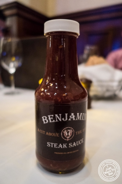 Steal sauce at Benjamin Steakhouse in New York, NY