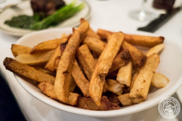 French fries at Benjamin Steakhouse in New York, NY