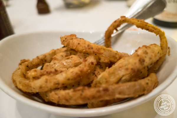 Onion rings at Benjamin Steakhouse in New York, NY