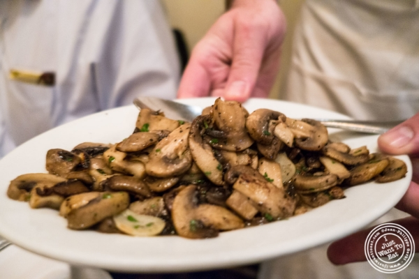 Sautéed mushrooms at Benjamin Steakhouse in New York, NY