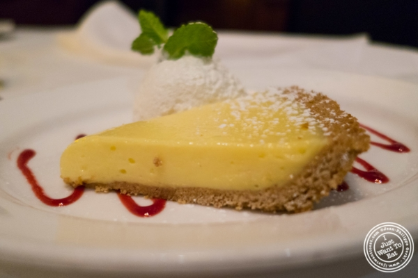 Key lime pie at Benjamin Steakhouse in New York, NY