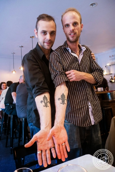 Alexis and Thibault Piettre from Frere de Lys, French restaurant on the Upper East Side, NY
